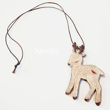 original hand-painted little deer necklace jewelry for her him beautiful surprise gift 10