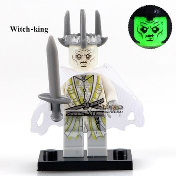 Single Sale PG518 Witch-king of Angmar Lord of the Rings mini dolls Herr Der Ringe Building Block Kids Toy Children PG8036