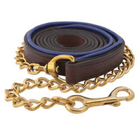 Padded Leather Lead w/ Chain - Halters from SmartPak Equine