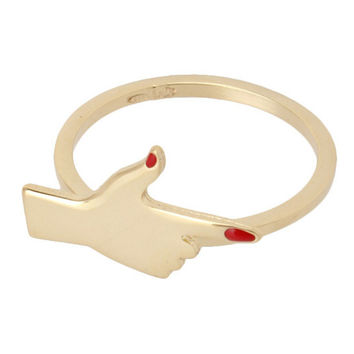 Golden Shooting Gesture Ring