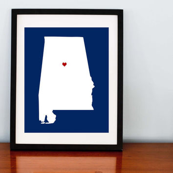 Alabama Love Print 8x10 by RomanticaHome on Etsy