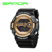 2017 Sanda Watch Men Military Sports Mens Watches Top Brand G Luxury Waterproof LED Digital Watch Shock Clock Erkek Kol Saati