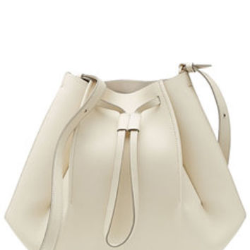 Leather Shoulder Bag with Drawstring - Maison Margiela | WOMEN | US STYLEBOP.com