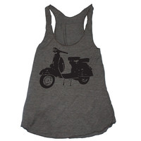 Womens VINTAGE VESPA SCOOTER american apparel by happyfamily