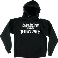 Thrasher Sk8 & Destroy Hoody/Sweater Large Black
