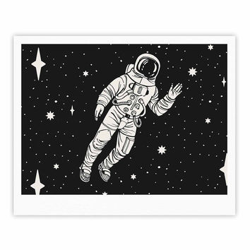 "Kess Original ""Space Adventurer"" Black Fantasy Fine Art Gallery Print"