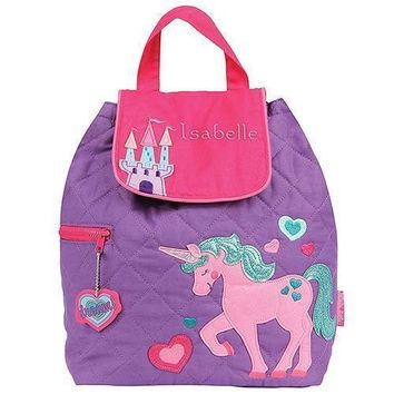 Personalized Quilted Toddler Backpack - Unicorn (Pack of 1)