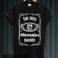 HOT The 1975 Band Shirt The 1975 Logo Men or Women T Shirt Black and White Unisex Tees BS-32