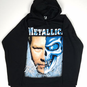 Metallica tshirt 90s Vintage Hoodie James Hetfield Concert Tour T-Shirt