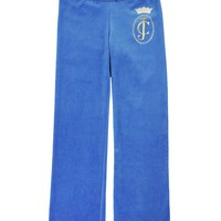 Girls Logo Ornate Cameo Velour Original Pant by Juicy Couture,