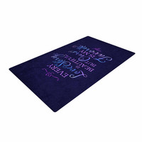 """Noonday Design """"Every Love Story Is Beautiful"""" Blue Purple Woven Area Rug"""