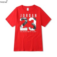 WZZAE Hot Sale 2017 New Jordan 23 t Shirt 2016 Summer Casual Streetwear 100% Cotton Loose Men Jersey Plus Size S-XXL
