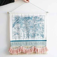 Plum & Bow Paris Map Wall Hanging- Blue One
