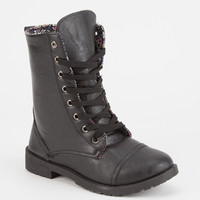 BLUE SUEDE SHOES Ditsy Lined Girls Combat Boots | Boots