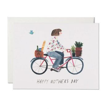 RED CAP CARDS MOTHER'S BIKE CARD