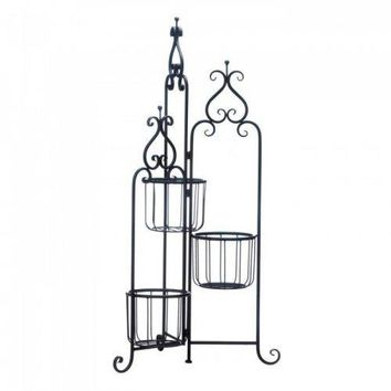 Black Iron Triple Plant Stand (pack of 1 EA)