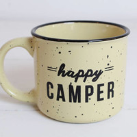 Camping Mug, Campfire Mug, Coffee, Happy Camper Mug, Adventure Awaits Mug, Coffee Mug, Happy Camper, Adventure Awaits Coffee Mug