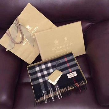 One-nice™ '' BURBERRY '' Woman Accessories Cape Scarf Scarves Black I