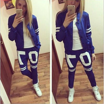 New Women's Sportswear Hoodies Set Striped Zipper WOMen Active Tracksuits Stand Collar Sweatshirts & Coats for WOEMN