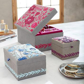 Lennon & Maisy Tapestry Jewelry Boxes