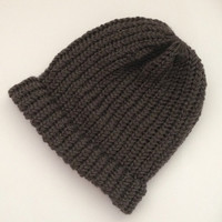 mens beanie hats, knit beanie hats, hand knitted mens hats, loom knitted beanie, grey toques, mens hat, womens grey beanies, winter hats