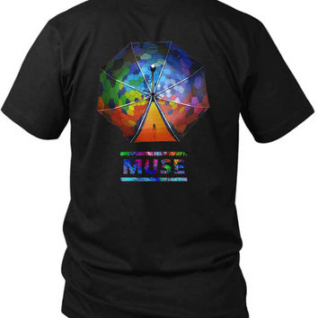 Muse The Resistance Umbrella 2 Sided Black Mens T Shirt