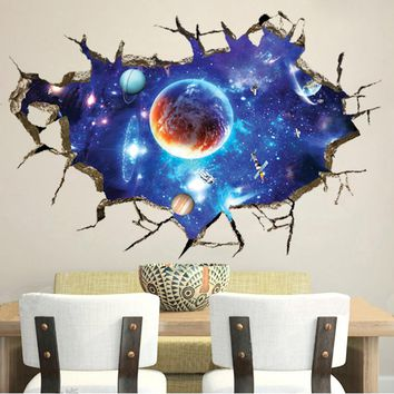 Wall Sticker  the COSMOS Removable Vinyl Art Room Decal Mural