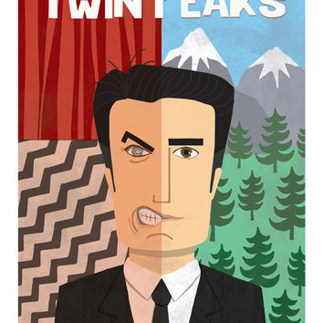 Agent Dale Cooper, Twin Peaks Poster 18x24 in.