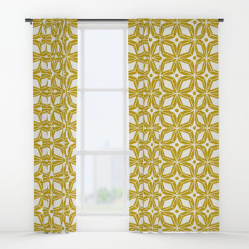 Starburst - Gold Window Curtains by heatherduttonhangtightstudio