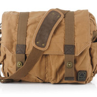Brown Canvas Heavy Duty Over the Shoulder Bag