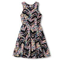 Xhilaration® Junior's Printed Fit & Flare Dress - Assorted Colors