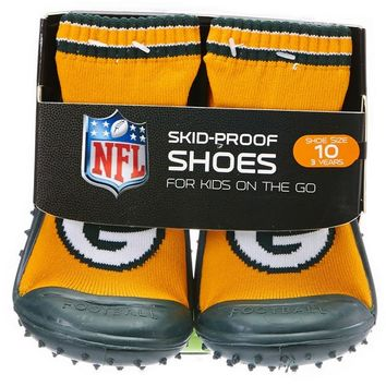 NFL Skid Proof Shoes Packers 12m 3T 331400501 | Baby Socks | Baby Boy Clothes | Clothing | Burlington Coat Factory