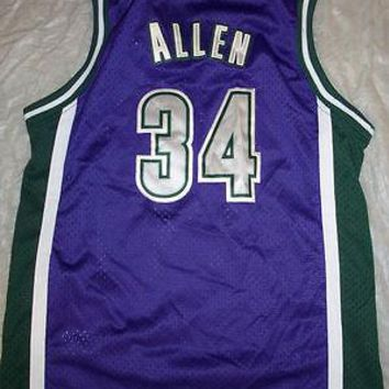 RAY ALLEN #34 RETRO MILWAUKEE BUCKS NIKE YOUTH NBA SWINGMAN JERSEY SHIPPING
