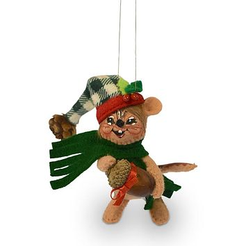 Annalee Dolls 4in 2018 Christmas Northwoods Chipmunk Ornament Plush New with Box