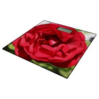 Dark red Rose Bardou Job Bathroom Scale