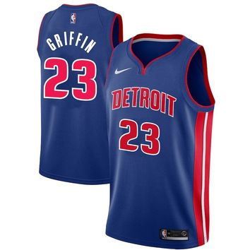 Men's Detroit Pistons #23 Blake Griffin Nike Blue Swingman Jersey - Icon Edition - Best Deal Online