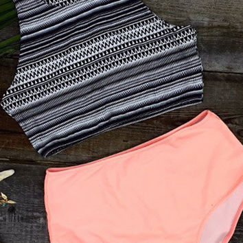 Cupshe Hot Summer Tank Top and Orange Bottom Bikini