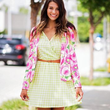Bright Floral Dreams Blazer