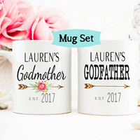 Godparents Gift, Gift for Godparent, Godmother mug, Godfather mug, Baptism Mug, New Godparent Coffee Cup, MUG001