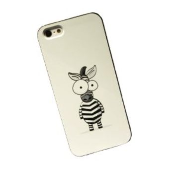 Cartoon Zebra Hard Iphone 4/4s Cover Case