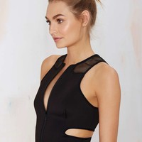 Nasty Gal Trouble Cutout Crop Top