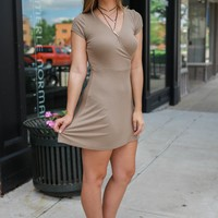 Wrapped Up In You Dress - Olive