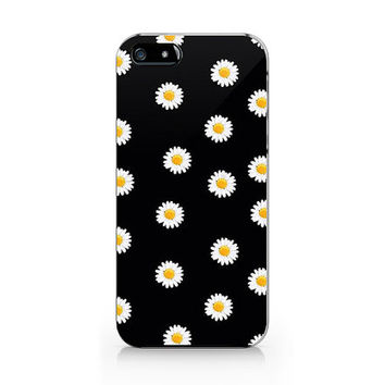 Daisy flower phone case, Floral pattern ,iPhone 5 5S case, iPhone 4 4S case, Free shipping M-553