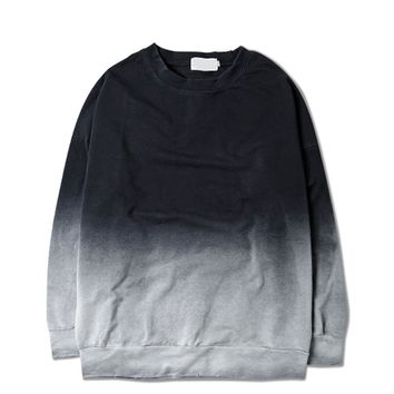 Ombre Sweatshirt | Black-Grey