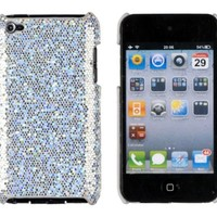 Silver Sparkles Case for Apple iPod Touch 4G (4th Generation)
