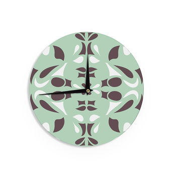 "Miranda Mol ""Swirling Teal"" Wall Clock"