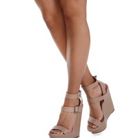 Natural Double Strap Wedges