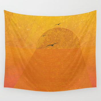 sunset Wall Tapestry by Berwies