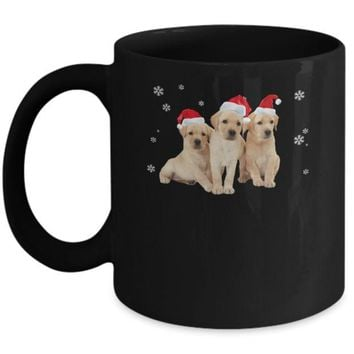 DCKIJ3 Funny Yellow Labrador Puppies Christmas Dog Gift Mug