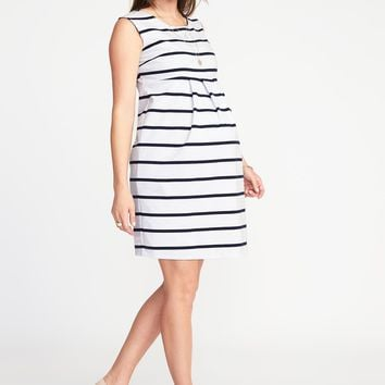 Maternity Sleeveless Ponte-Knit Dress | Old Navy